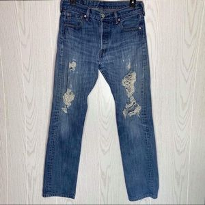 Lucky Brand 121 Heritage Slim Distressed Jeans
